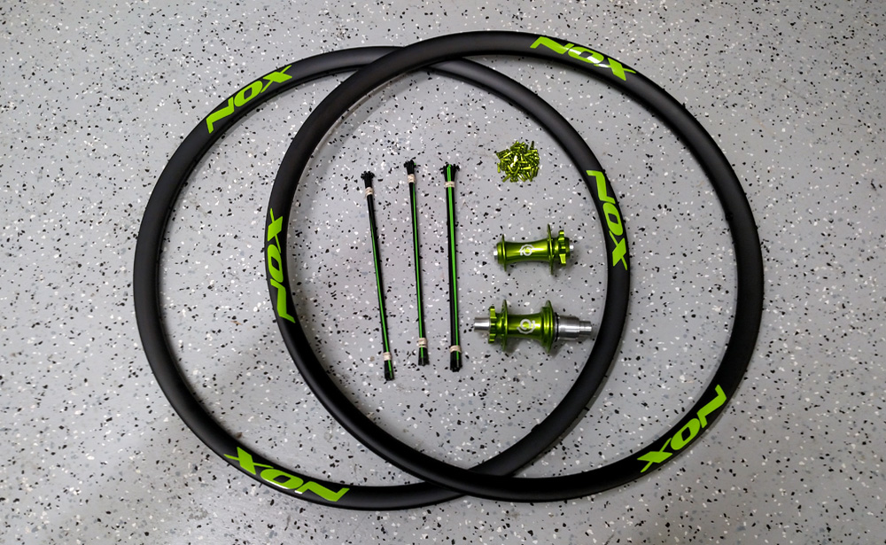 Custom bicycle wheelset components.
