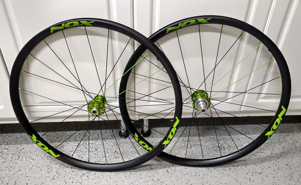 Custom bicycle wheelset completed.